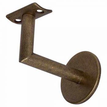 Leuninghouder New York, hol zadel, oud brons, prijs per 2 stuks